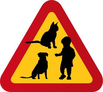 Hund barn & katt