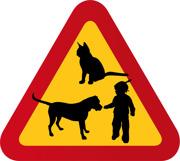 Barn, flicka, hund & katt 2