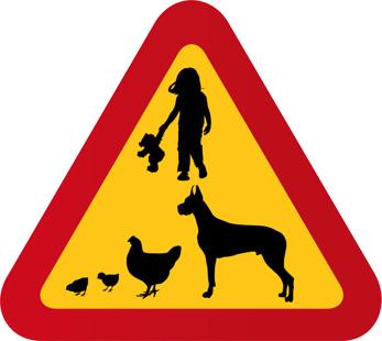 Barn hund höna