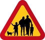 Familj, 2 pojkar & katt