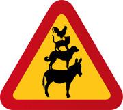 Bremen - Åsna, katt, hund, tupp