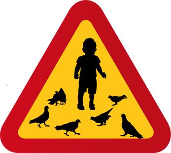 Barn och duvor
