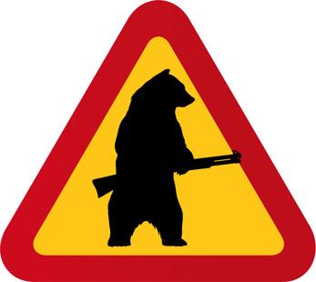 Björn med hagelbössa