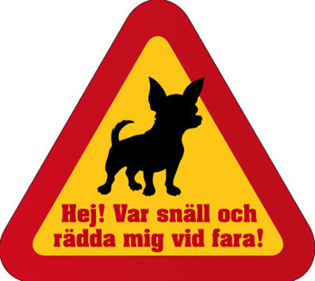 Dekal - Rädda mig vid fara hund 1