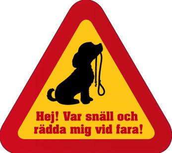 Dekal - Rädda mig vid fara hund 2