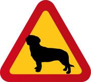 Varningsskylt Hund Drever