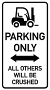 Parking only Truck