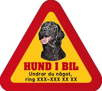 Dekal - Hund i bil med mobilnummer 72