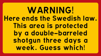Here ends the Swedish law