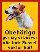 Obehöriga göre sig ej besvär - Vår Jack Russell vaktar här med porträtt