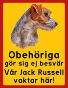 Obehöriga göre sig ej besvär - Vår Jack Russell vaktar här med porträtt 2