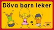 Döva lekande barn, pojke och flicka