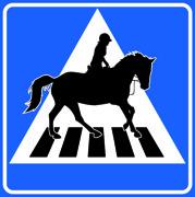 Övergångsställe Häst och ryttare