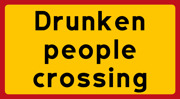 Drunken people crossing STOR