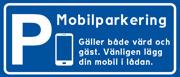 Skylt Mobilparkering