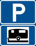 P-skylt husvagn