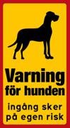 Varning för hunden Grand Danois