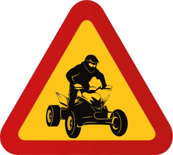 Fyrhjuling med förare