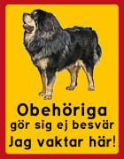 Obehöriga göre sig ej besvär - Jag vaktar här (Tibetansk mastiff)