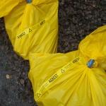 Farligt avfall (asbest) tas om hand.