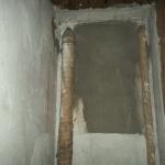 Rörisolering som innehåller asbest. Denna typ är ganska vanlig i äldre hus.