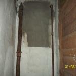 Rören är sanerade från asbestisoleringen. Vid denna typ av sanering plastas området in noggrant och ett undertryck skapas i området som saneras med en eller flera sk luftrenare. Allt för att lämna omr