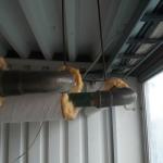 Isoleringen är borta, rören är sanerade och avfallet går till deponi.