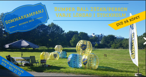 Revents bumper ball sommarkampanj 295 kronor per person.