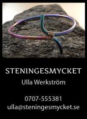 Smycken i Titan Halmstad, Halland – handtillverkade & unika titansmycken designade av smyckeskonstnär Ulla Werkström på Steningesmycket mellan Halmstad & Falkenberg