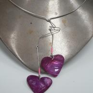 Silverhalsband med hjärtan 700kr
