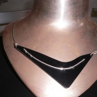 Silverhalsband med plexi 1300kr