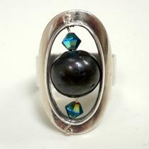 lagning silverring med pärla