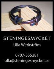 Titanringar Halmstad, Halland – handtillverkade & unika ringar i titan designade av smyckeskonstnär Ulla Werkström på Steningesmycket mellan Halmstad & Falkenberg