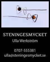Unika & designade smycken i silver och titan. Handtillverkade av smyckeskonstnär Ulla Werkström på Steningesmycket. Pinns.