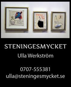 Unik textilkonst & tavlor av textilkonstnär Ulla Werkström på Steningesmycket i Halland