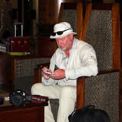 På ett hotell i Zimbabwe