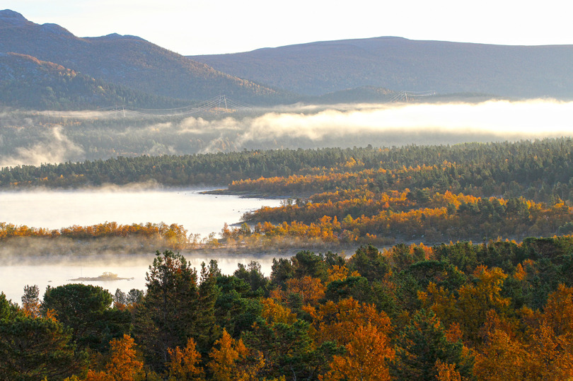 Sjön Langas vid Saltoluokta fjällstation 2014-09-16