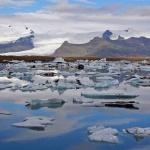 Island Vattnajökuls issjö