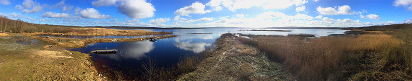 Panoramautsikt (180 grader) från Finja fågeltorn