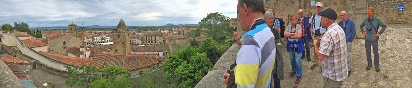 Utsikt över den trevliga staden Trujillo