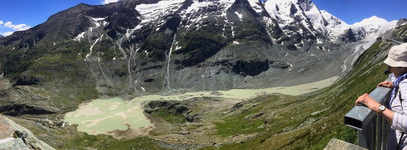Alperna: Den krympande glaciären vid Grossglockner.