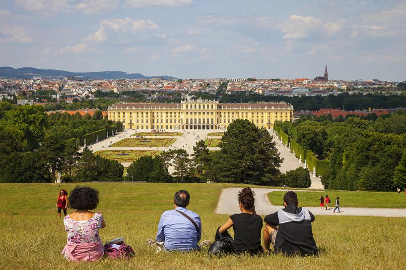 Wien: Slottet Schönbrunn i utkanten av Wien.