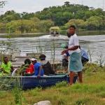 Floden Chobe mellan Botswana och Namibia