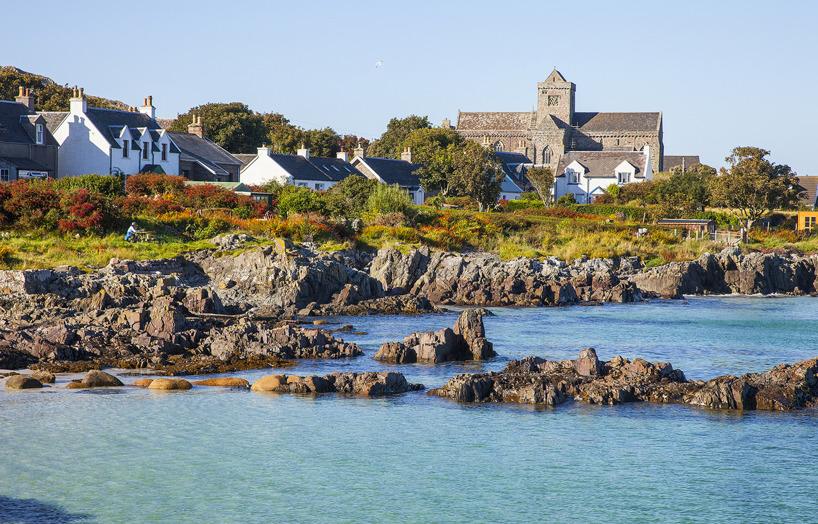 Klostret på ön Iona, Skottland första kristna byggnad
