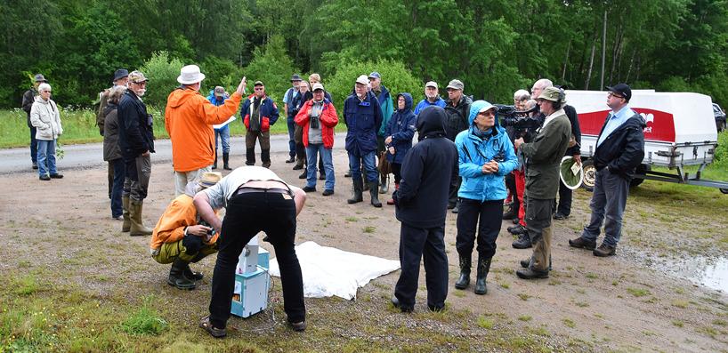 Dagen började med en genomgång av upplägget under dagen och visning av insektsfällor.
