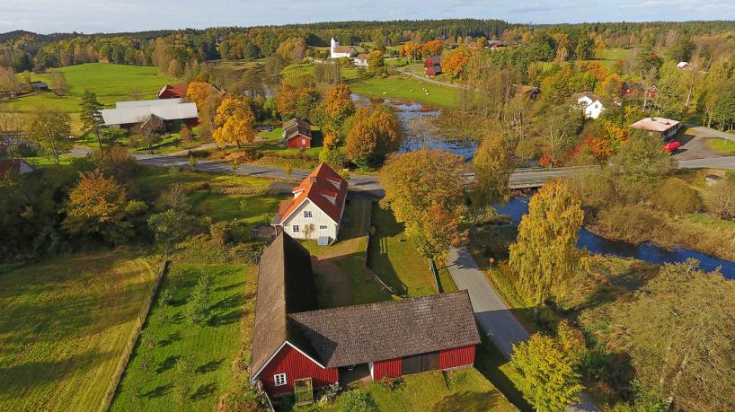 2017-10-13: Vieåns dalgång vid Verums kyrka