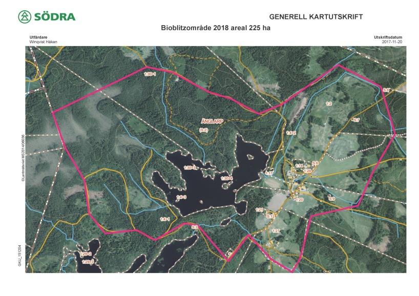 Området är utökat med några hektar på rullstensåsen mellan Gårdsjön och Möllesjön.