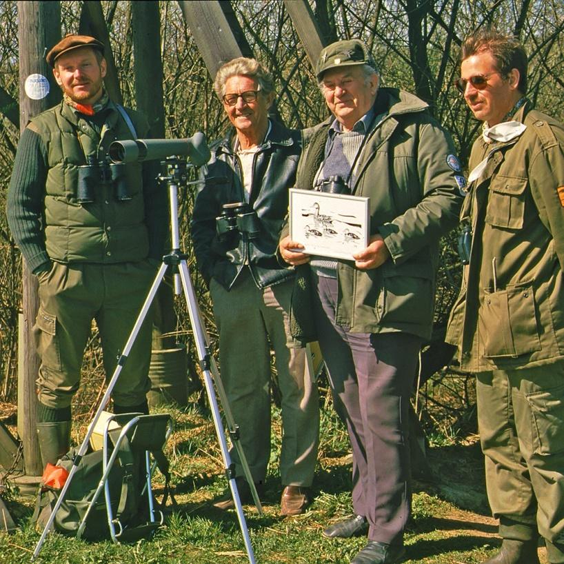 Fr v Thomas Johnsson, Knut Holmer, Nils Lilja och Ole Tryggeson.
