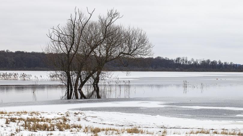 En mynningsvak vid Hovdalaåns utlopp i Finjasjön