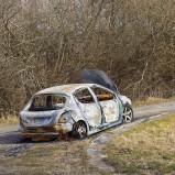 Utbränd bil på Hovdala I 210331 kopia